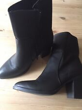Ladies Black Ankle Boots Size 7