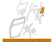 Toyota Oem Highlander Glass-Rear Door Window-Weatherstrip Seal Right 681880E030