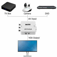 Mini HD AV2VGA Video Converter Box AV RCA CVBS to VGA Video HDTV Adapter Kit