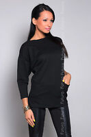 Women's Casual Top Jumper Boat Neck 3/4 Sleeve Blouse Tunic Size 8-12 8381
