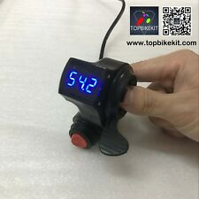 12V-84V Thumb Throttle with Power Switch LED voltage display for ebike