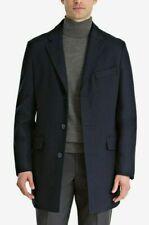 Bar III Men's Slim-Fit Overcoat Wool Blend Coat Jacket Royal Blue 46R RRP $350