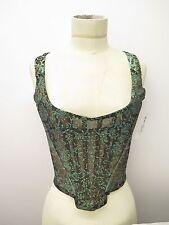 Vintage Vivienne Westwood Red Label Turquoise Glitter Bustier Top Sz 12/SXS