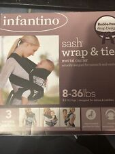 Infantino Sash Wrap & Tie Baby Carrier Infant Toddler 3-Position Mei Tai 8-36lbs