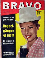 Bravo HEFT / 1962 / TOP ZUSTAND / RARITÄT / VIVI BACH / BILL HALEYS /