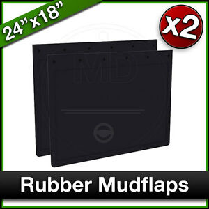 """BROSHUIS TRAILER 24"""" x 18"""" 610 x 460mm Truck Lorry RUBBER MUDFLAPS Mud Flap PAIR"""