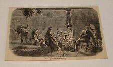 1879 magazine engraving ~ Bavarian Picking-House