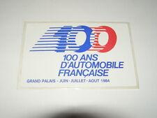 autocollant 100 ans d'automobile francaise