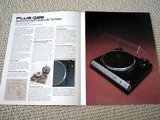 Sanyo, Plus Q25 turntable brochure catalogue