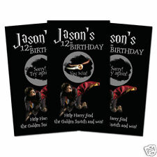 10 Harry Potter Birthday Party Favors Personalized Scratch Off Games