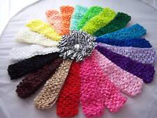 PICK 20 WHOLESALE LOT baby girls CROCHET headbands for flowers KORKER hairbows