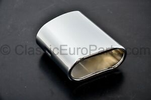 Chrome oval exhaust tip for BMW Z3 1.8 1.9 M43 & M44 engine 100mm wide 50mm high