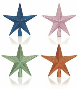 Christmas Tree Decorations Xmas Tree Star Glitter Tree Topper Various Colours