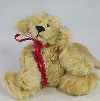 Vintage Artist Made Musical Miniature Mohair Teddy Bear made by Artist Pam Young