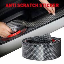 Soft Carbon Fiber Car Door Plate Sill Scuff Cover Anti Scratch Sticker 2Meters L