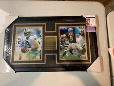 Drew Brees Autograph Signed Saints 8x10 Photo Collage Framed JSA
