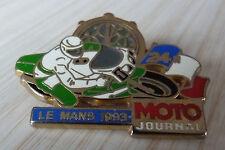 BEAU PIN'S MOTO JOURNAL CHRONO LES 24 HEURES DU MANS 1993 ZAMAC AMC