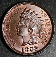 1898 INDIAN HEAD CENT - BU MS UNC - With CARTWHEELING MINT LUSTER!