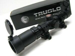 Truglo TG8514BC Black Tru Brite 30mm Series Hunting Crossbow 1-4X24mm Scope