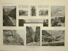 1903 Imprimé Article Lord KITCHENER'S Frontier Voyage Chitral Valley Broz