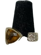 Michael Dawkins Citrine Sterling Ring Size 7