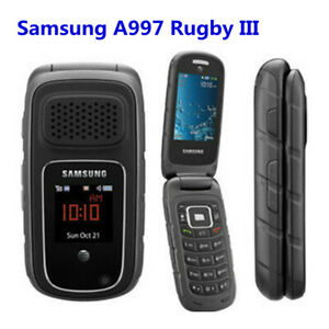 Samsung A997 Rugby III 2G 3.15MP Mp3 player GPS Bluetooth Mp3 Flip mobile phone