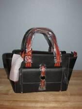 Dooney & Bourke Cambridge Small Pebbled Leather Shopper Satchel Black Tan NWT