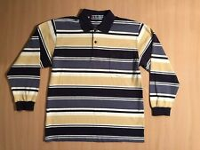 *Rare* Vintage Playboy Striped Rugy Polo Long Sleeve Huge Hefner 1980's Size 48
