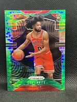 2019 Panini Prizm Coby White /25 Green Pulsar Rookie