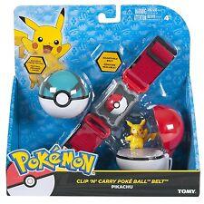 TOMY Toys unisex-adult Pokemon Clip n' Carry Poke Ball Belt Standard Pikachu