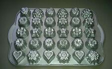 Nordic Ware Bundt TEA CAKES & CANDIES PAN 30 Mini Molds Hearts Stars Roses