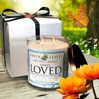 Always Loved Valentine Handmade 12oz Highly Scented Soy Candle, Smells AMAZING!