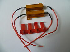 2x Motorcycle LED Load Resistors 50W 6ohm Bulb Fix Fast Blinker Indicator car