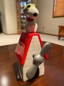 Snoopy Flying Ace on Dog House Snoopy Music Box