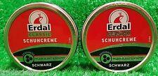 (5€/100ml) 2x Erdal ORIGINAL SCHUHCREME SCHWARZ 75ml Dose kostenloser Versand