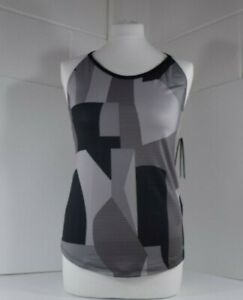 Under Armour UA Women's Fitted HeatGear Vest XS (8) in Grey Black for Training