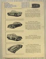 ALLARD CAR RANGE Sales Specification Leaflet c1950 MONTE CARLO Safari PALM BEACH