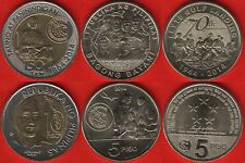 Philippines set of 3 coins: 5 - 10 piso 2014 UNC