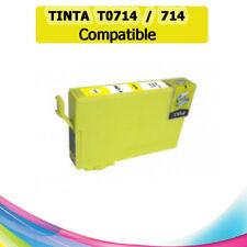 TINTA AMARILLA T0714 714 COMPATIBLE IMPRESORAS NONOEM EPSON CARTUCHO AMARILLO