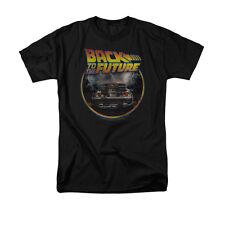 Back to The Future Men's Circle Logo Tee Shirt Black Medium