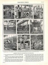 Vintage Print/Plate 1929 Encyclopedia Britannica, MACHINE-TOOLS IN OPERATION