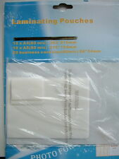 VARIETY PACK 40 LAMINATING POUCHES A4 A5 & BUSINESS CARD SIZE