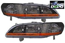 1998-2002 Honda Accord OE Style Black Head Light DEPO PAIR