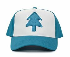 Aqua Embroidered Dipper Gravity Falls New Curved Bill BLUE PINE TREE Hat Cap TV