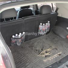 Black Car Seat Elastic String Storage Mesh Bag Pocket Sticker Trunk Organizer C