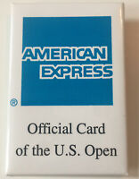 "1996 American Express Official Card Of U.S. Open Tennis Pinback Button 2"" x 3"""