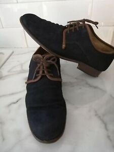 Fly London size UK12  men's dark blue suede derby shoes