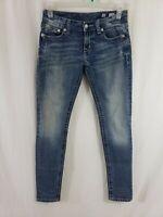 Miss Me Skinny Fit Womens Denim Blue Jeans Size 28 x 33 Slim Light Wash Mid Rise