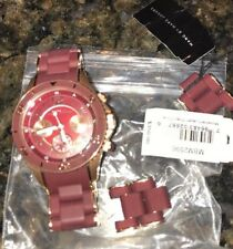 Marc By Marc Jacobs MBM 3523 Maroon/ Burgundy with Rose Gold watch W/ Tags