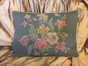 vintage tapestry cushion Feather Filled